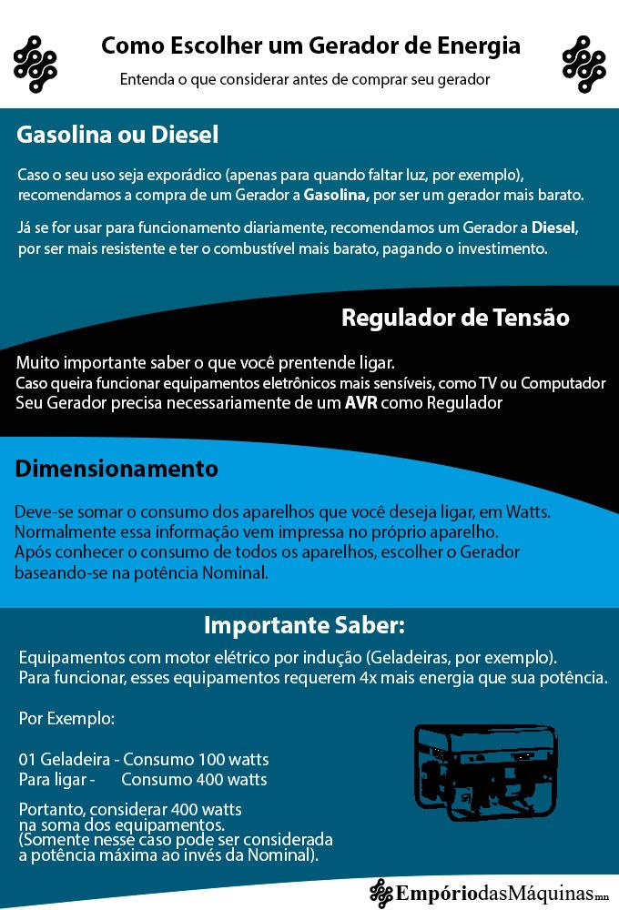 Comprar Gerador de Energia - Saiba Como Escolher 77d30ac287